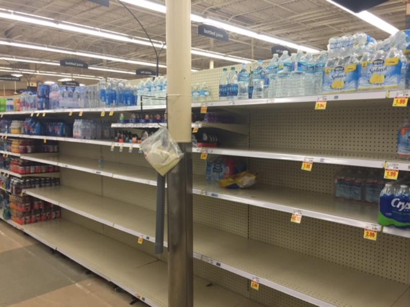 Bottle water shortage